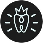 Loop Dental icon of a tooth with a crown